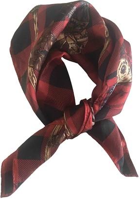 Ralph Lauren Burgundy Silk Scarves