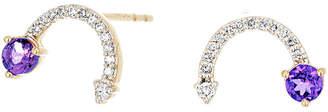 Adina 14K 0.30 Ct. Tw. Diamond & Amethyst Earrings