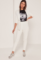 Missguided White Cigarette Pants Tw