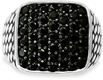 Effy Sterling Silver & Black Spinel Band Ring