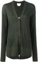 DKNY open back cardigan - women - Nylon/Spandex/Elastane/Merino - L