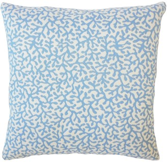 The Pillow Collection Draven Nautical Down Filled Throw Pillow in Baltic