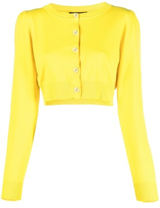 Boutique Moschino Cropped Cotton Cardigan