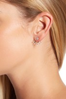 Meira T Yellow Gold Two Tone Chain Dangle Earrings
