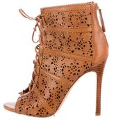 Alice + Olivia Leather Laser Cut Ankle Boots