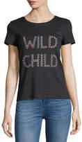 Alice + Olivia Rylyn Wild Child Short-Sleeve Graphic Tee