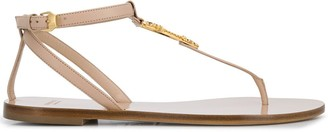 Versace Virtus flat sandals