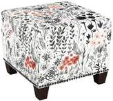Skyline Furniture Square Nail Button Ottoman Patterned