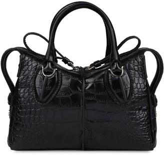 Tod's Tods D-styling Crocodile Print Leather Handbag