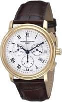 Frederique Constant Ferique Constant Men's FC292MC4P5 Persuasion Strap Chronograph Silver Dial Watch