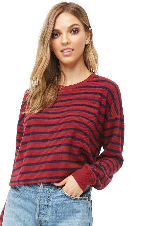 Forever 21 Striped Knit Top