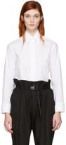 MM6 Maison Martin Margiela White Convertible Double Collar Shirt