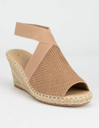 b-ROOM Delicious Broom Wheat Womens Espadrille Wedges