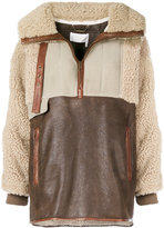 Chloé oversized shearling jacket - women - Lamb Skin/Polyester/Wool - S