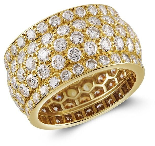 196118kt Yellow Gold Present Day Diamond Ring