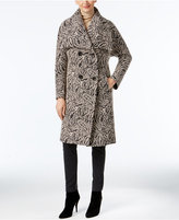 Jones New York Paisley-Print Walker Coat