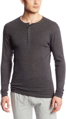 2xist Men's Long Sleeve Henley Top