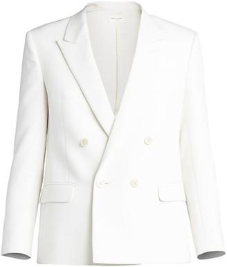 Saint Laurent Shrunken-Fit Wool Suiting Jacket