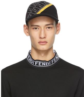 Fendi Grey and Black Wool Forever Cap