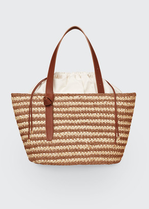 Cesta Collective Bicolor Raffia Beach Tote Bag