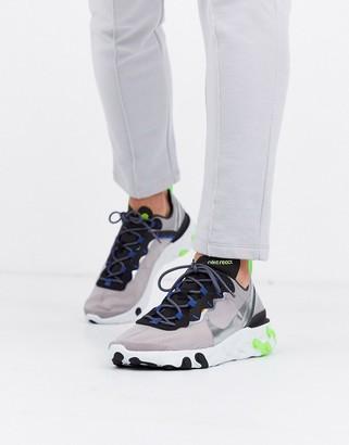 Nike React Element 55 sneakers in gray CI3831-200