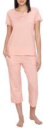 Karen Neuburger Geo Knit Cropped Pajama Set