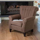 Christopher Knight Home Waldorf Channel Chocolate Fabric Club Chair