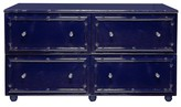 The Well Appointed House Worlds Away Emma Navy Lacquer Bamboo Four Drawer Dresser