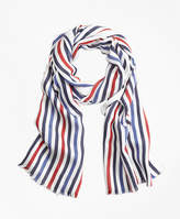 Brooks Brothers Multi-Color Stripe Scarf