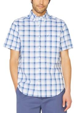 Nautica Men's Big & Tall Stretch Plaid Short Sleeve Shirt