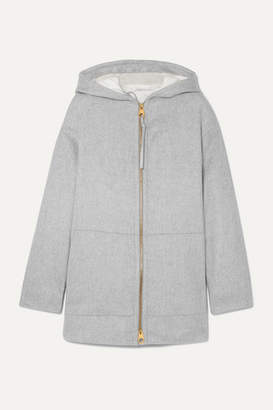 Agnona Convertible Hooded Cashmere Padded Jacket - Gray