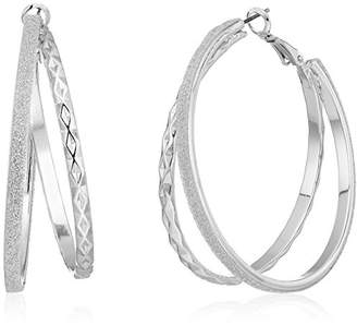 GUESS Update Glitter Paper Hoop Earrings
