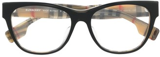 Burberry Check-Print Square Frame Glasses