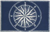 Liora Manné Front Porch Indoor/Outdoor Compass Navy 2' x 3' Area Rug