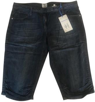 Cerruti Blue Cotton Shorts for Women