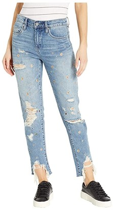 Blank NYC The Rivington High-Rise Tapered Distressed Jeans with Grommets in Bohemian Rap City (Bohemian Rap City) Women's Jeans