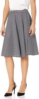 Star Vixen Women's Petite Knee Length Full Skater Skirt