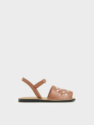 Charles & Keith Girls' Embroidered Sandals