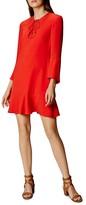 Karen Millen Lace-Up Ruffle Dress
