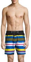 HUGO BOSS Striped Swim Trunks