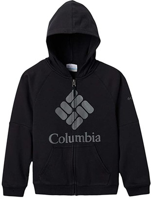 Columbia Kids French Terry Full Zip (Little Kids/Big Kids) (Black) Boy's Clothing