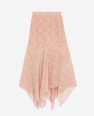 The Kooples Pink long wrap skirt with print
