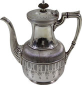 One Kings Lane Vintage Engraved Silver-Plate Coffeepot, C.1860
