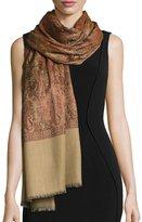 Sabira Sehrab Paisley Wool Shawl, Dark Orange