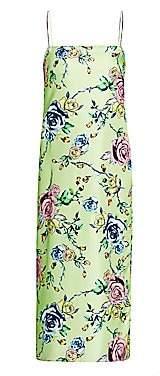 Prabal Gurung Women's Floral Silk Slip Dress