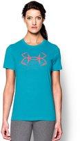 Under Armour Women's UA Hook Logo Tri-Blend T-Shirt BOLD AQUA