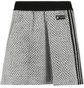 adidas Pleated Herringbone Tweed Mini Skirt