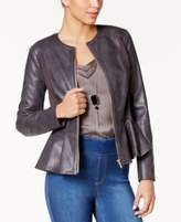 Thalia Sodi Faux-Leather Peplum Jacket, Only at Macy's