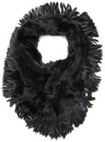 Jocelyn Women's Oversized Rabbit Fur Infinity Scarf