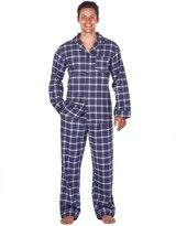 Noble Mount Mens Premium Flannel Pajama Sleepwear Set - Plaid